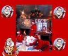 Santa Claus čtení dopisy od dětí, které byly získány na Vánoce