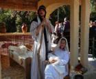 Marie, Josef a Ježíškem v jeslích bydlení