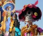 Lebka Catrina, jedna z nejpopulárnějších Den mrtvých v Mexiku