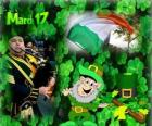 17. března. Den svatého Patricka, je oslava irské kultury. Jetele používán jako symbol Irska