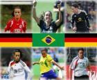 Nominace pro World FIFA žen hráč roku 2010 (Fatmire Bajramaj, Marta Vieira da Silva, Birgit Prinz)
