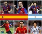 Nominován na FIFA Zlatý míč 2010 (Andrés Iniesta, Xavi Hernández, Lionel Messi)