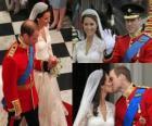 Britská královská svatba mezi Prince William a Kate Middleton, jednou oženil