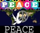 Mezinárodní den míru. Světový den míru. 21.září se zaměřuje na míru a bez války