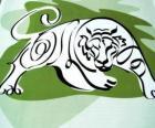 Tiger, znamení tygra, Rok tygra. Třetí znak z dvanácti zvířat čínského zvěrokruhu