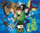 Ben, Gwen i Kevina, ludzkich bohaterów Ben 10 a jeho 10 originálních osobností cizince