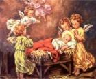 Několik andělé s Ježíškem