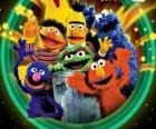 Několik znaků Sesame Street