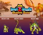 Ocelotl Cub, Ocelotl Scout, Ocelotl Max. Invizimals Shadow Zone. Duch Jaguar bojovníka z dávných Maya