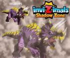 Triceratops. Invizimals Shadow Zone. Invizimals býložravec s velkou sílu a statečnost