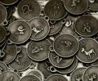 Medaile s znamení čínského zvěrokruhu