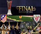 Atlético Madrid vs. Athletic Bilbao. Finále evropské ligy 2011-2012 na národním stadionu v Bukurešti, Rumunsko