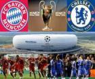 Bayern München vs. Chelsea FC. Final UEFA Champions League roky 2011-2012. Allianz Arena, Mnichov, Německo