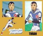 Thran je obrana fotbalového týmu galaktické Snow-Kids s číslem 2