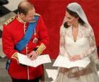 Ženich a nevěsta na svatbě