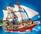 Playmobil pirátská loď