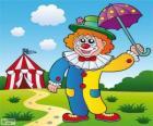 Klaun s deštníkem