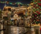 Ulice zdobené na Vánoce