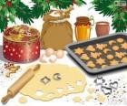 Příprava vánoční sušenky
