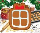 Sušenka s tvarem vánoční dárek
