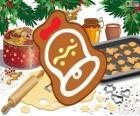 Vánoční cookie jako zvon