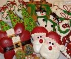 Krásné vánoční sušenky různých tvarů