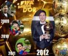 FIFA Ballon d'Or 2012 vítěz Lionel Messi