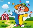 Klaun žonglování