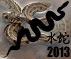 2013, rok Vodní Had. Podle čínského kalendáře od 10 února 2013 na 30 ledna 2014