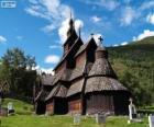 Roubený kostel Borgund, Norsko