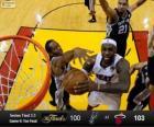 2013 NBA finále, 6. hra, San Antonio Spurs 100 - Miami Heat 103
