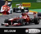 Fernando Alonso - Ferrari - 2013 belgické Grand Prix, svírající klasifikované