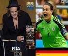 Hráč světa ve fotbale žen roku 2013 vítěze Nadine Angerer