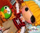 Patch Treasurechest od Lalaloopsy s jeho domácí mazlíček, papoušek