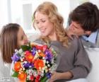 Máma příjem kytice
