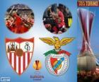 Sevilla vs Benfica. Finále Ligy 2013-2014 Evropa na Juventus Stadium, Turín, Itálie