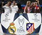 Real Madrid vs Atletico. Konečné UEFA Champions League rok 2013-2014. Estadio da Luz, Lisabon, Portugalsko