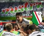 Legia Varšava, šampión polské fotbalové ligy Ekstraklasa 2013-2014