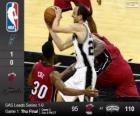 2014 NBA finále, první zápas, Miami tepla 95 - San Antonio Spurs 110