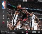 2014 NBA finále, druhý zápas, Miami tepla 98 - San Antonio Spurs 96