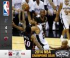 2014 NBA finále, 5. zápas Miami heat 87 - San Antonio Spurs 104