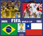 Brazílie - Chile, osmé finále, Brazílie 2014