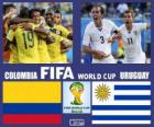 Kolumbie - Uruguay, osmé finále, Brazílie 2014
