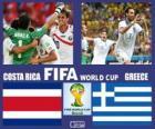 Kostarika - Řecko, osmé finále, Brazílie 2014
