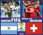 Argentina - Švýcarsko, osmé finále, Brazílie 2014
