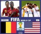 Belgie - Spojené státy, osmé finále, Brazílie 2014