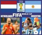 Nizozemsko - Argentina, semi-finále, Brazílie 2014