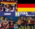 Německo slaví své klasifikace, Brazílie 2014
