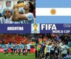 Argentina slaví své klasifikace, Brazílie 2014