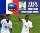 Paul Pogba, mladý hráč award. Brazílie 2014 mistrovství světa ve fotbale